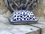 Small butterdish, 15x11x8 cm, Crazy Dots, BSN A-0346