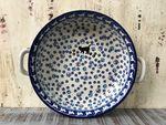Bowl / dish with handle, Ø 20 cm, ↑5 cm, cat, BSN A-0103 003