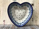 Heart baking tin, 15x14 cm, ↑4 cm, Royal Blue, BSN A-0661