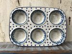 Baking tin,  29x20x4 cm, 6 troughs, Royal Blue, BSN A-0696 Picture 2