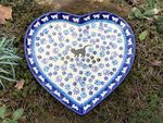 Plate with shape of heart, 23 x 22 cm, cat, BSN A-0868