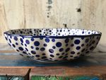 Bowl with rippled side, Ø 24 cm, high 6 cm, Crazy Dots, BSN A-1203