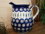 Jug, volume 1000 ml, 16 cm high, Tradition 10 - polish pottery - BSN 0412
