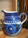 Jug, volume 1000 ml, 16 cm high, unique 2 - polish pottery - BSN 2395 Picture 1
