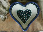 Heart baking tin, 15,5 x 15 cm, 8 cm high, Tradition 1 - polish pottery - BSN 6448 Picture 1