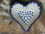 Heart baking tin, 15,5 x 15 cm, 8 cm high, Tradition 24 - polish pottery - BSN 7347 Picture 1