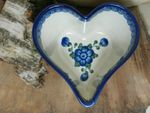 Heart baking tin, 15,5 x 15 cm, 8 cm high, Tradition 9 - polish pottery - BSN 7354 Picture 1