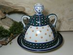 Cheese lady, 23 x 23 cm, Tradition 1 - polish pottery - BSN 5124