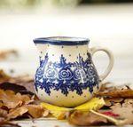 Milk jug, volume 150 ml, unique 10 - polish pottery - BSN 5325