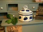 Box for biscuits 6 x 7 cm polish pottery for dolls- Tradition 22 - BSN 2431