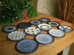 12 original saucers, polish pottery - BSN 2121
