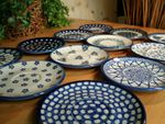 12 original saucers, polish pottery - BSN 2121 Picture 2