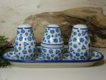 Sale, pepe e stuzzicadenti assortimento con vassoio, tradizione 12, polacco ceramica - BSN 5773 Immagine 2