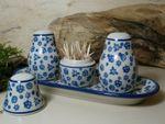 Sale, pepe e stuzzicadenti assortimento con vassoio, tradizione 12, polacco ceramica - BSN 5773