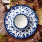 Eggcup plate polish pottery - Tradition 12 - BSN 0131
