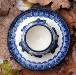 Eggcup plate, Tradition 9 - polish pottery - BSN 2466