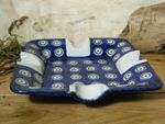 Ashtray, 17,5 x 17,5 cm, 3,5 cm high, Tradition 10 - polish pottery - BSN 0666