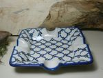 Ashtray, 17,5 x 17,5 cm, 3,5 cm high, Tradition 25 - polish pottery - BSN 7678