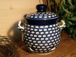 Garlic pot, 900 ml, Tradition 4 - polish pottery - BSN 0413 Picture 1
