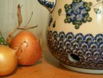 Onion pot, 1500 ml, 18,5 x 19 cm, Tradition 9 - polish pottery - BSN 2005 Picture 3