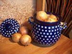 Ui / aardappel pot, 3500 ml, 23 x 22 cm, Pools Aardewerk - Traditie 5 - BSN 2654