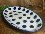 Plate, oval, 29,5 x 18 cm, Tradition 28, polish pottery - BSN 10585