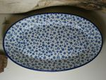 Plate, oval, 35,5 x 21 cm, Tradition 12, polish pottery - BSN 6453