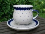 Espresso cup and saucer 70 - 80 ml - Tradition 26 - polish pottery - BSN 200981