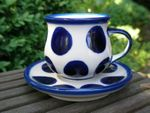 Espresso cup and saucer 70 - 80 ml - Tradition 28 - polish pottery - BSN 200980