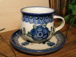 Espresso cup and saucer, 70-80 ml, Tradition 9, polish pottery - BSN 0602