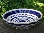 Bowl with rippled side, Ø 24 cm, 6 cm high, Tradition 24, polish pottery - BSN 7912 Picture 2