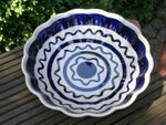 Bowl with rippled side, Ø 24 cm, 6 cm high, Tradition 24, polish pottery - BSN 7912