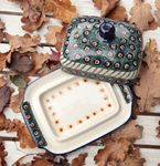 Butter dish, 250 g, Tradition 1 - polish pottery - BSN 0530 Picture 3