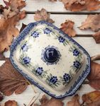 Butter dish, 250 g, unique 7 - polish pottery - BSN 1677 Picture 2