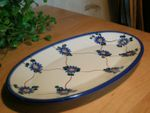 Plate, oval, 21 x 13 cm, Tradition 8, polish pottery - BSN 2612
