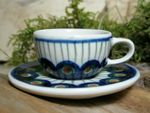 Cup with saucer miniature - Tradition 10 - polish pottery - BSN 6928