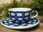 Cup with saucer miniature - Tradition 4 - polish pottery - BSN 6933