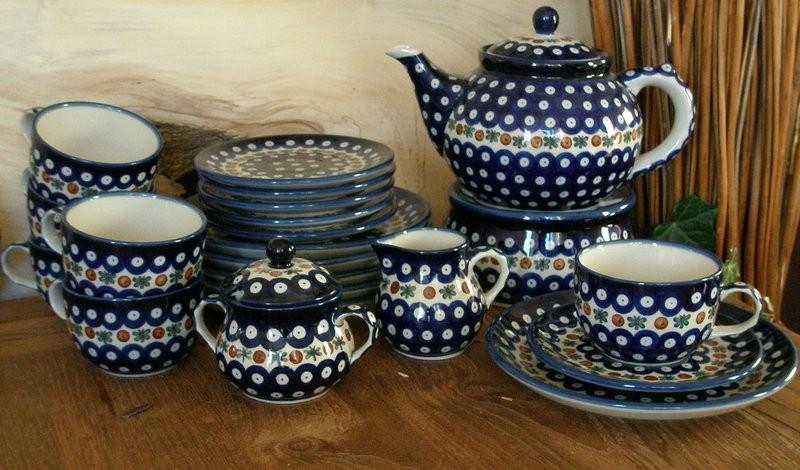 polsk keramik Te tjeneste kaffestel 6 personer, Polsk Keramik, Tradition 6   BSN  polsk keramik
