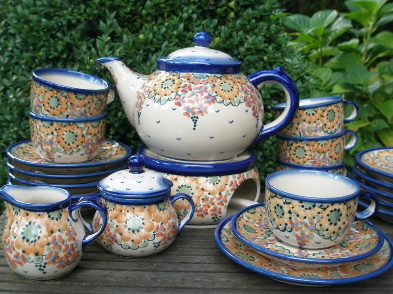 polsk keramik Te tjeneste kaffestel 6 personer, Andet Valg, Polsk Keramik  polsk keramik