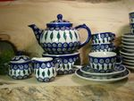 Complete service for 6 pers. with pot & warmer, 2. choice, Tradition 10 - polish pottery - BSN 21530