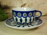 Complete service for 6 pers. with pot & warmer, 2. choice, Tradition 10 - polish pottery - BSN 21530 Picture 8