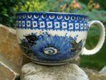 XL cup, max. 375 ml volume, unique 2, polish pottery - BSN 10509