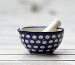 Mortar and pestle, Ø 8,5 cm, 4 cm high, Tradition 4 - polish pottery - BSN 1594 Picture 2