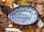 Spoon rest, 12,5 x 8,5 cm, hoogte 16 cm - traditie 2 - Poolse aardewerk - BSN 4865