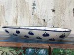 Un magnifique plat en céramique de Bunzlau 26 x 16 x 3 cm - Tradition 22 -BSN 6873 Image 2