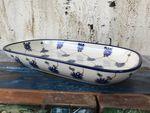Un magnifique plat en céramique de Bunzlau 26 x 16 x 3 cm - Tradition 8 -BSN 0306 Image 3