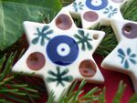 Star - 5,5 cm -tradition 6 - polish pottery -second quality - BSN 1121
