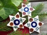 Star - 5,5 cm -tradition 6 - polish pottery -second quality - BSN 1121 Picture 3