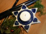 Candelstick - tradition  - polish pottery -second quality - BSN 0203
