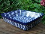 Oven dish, 32,5 x 27 x 8 cm, polish pottery - Tradition 4 - BSN 3006